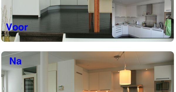 Voorbeeld keuken voor n na huis verkopen tips pinterest huis verkopen verkoop en keuken - Gerenoveerd huis voor na ...