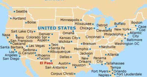 Where Is El Paso Texas Minneapolis Map Boston Map Denver Map