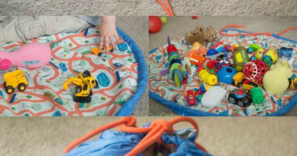 This DIY Toy Cinch Bag has been a lifesaver -- it was