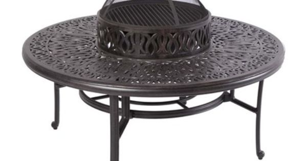 Alfresco home kaleidoscope fire pit patio table outdoors cozy comfy outdoor living - Types fire pits cozy outdoor spaces ...