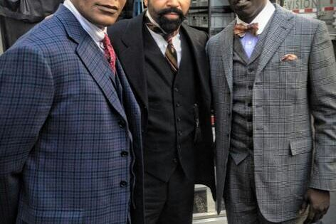 Erik LaRey Harvey as Dunn Purnsley, Jeffrey Wright as Valentin Narcisse, Michael K. Williams as Chalky White in Boardwalk Empire | HBO