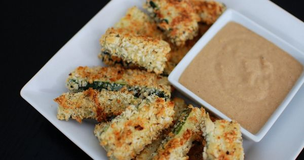 Baked Zucchini Sticks with Caramelized Onion Dipping Sauce   Beantown ...