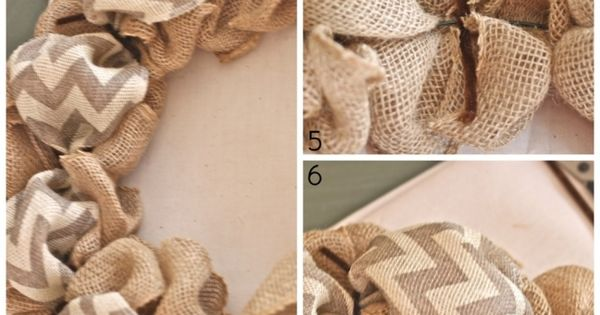 easy burlap ribbon wreath. Need 2 rolls burlap ribbon, wreath form, accent