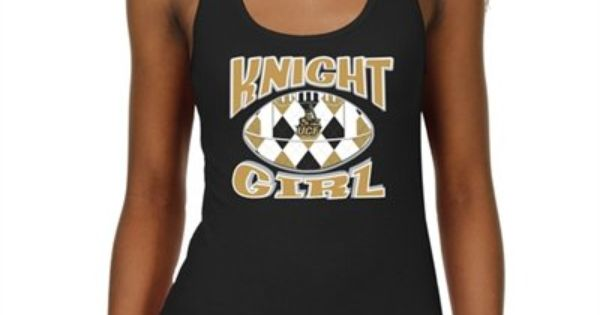 Ucf Knights Ladies Argyle Girl Junior S Ribbed Tank Top Black
