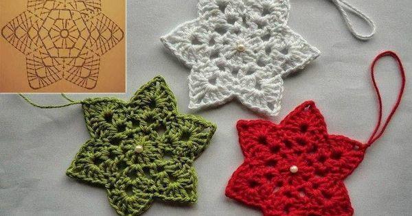 Ideas de adornos navide os patrones y paso a paso - Adornos navidenos ganchillo patrones ...