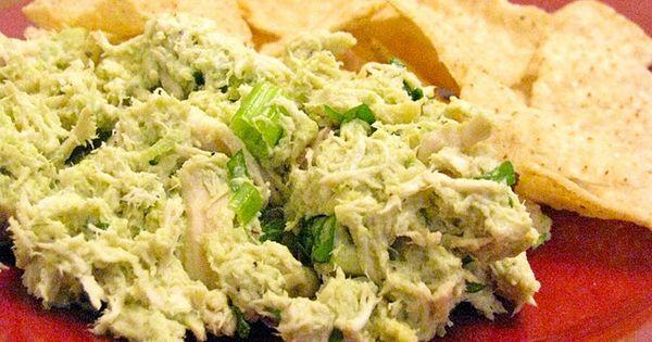 Avocado Chicken Salad - chicken, avocado, cilantro, green onion, mayo, salt, lime