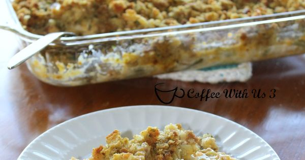 Stuffing casserole, Chicken green beans and Stuffing on Pinterest