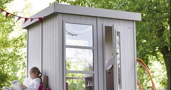 maisonnette en bois l andre soulet disponible chez leroy merlin outdoor room garden. Black Bedroom Furniture Sets. Home Design Ideas