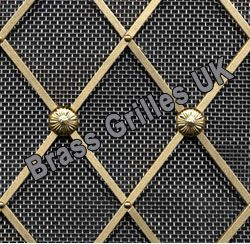Regency Decorative Br Grille With Stainless Steel Mesh
