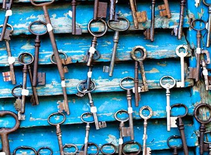 Paris Photography - Antique Keys at Flea Market in Paris, France -