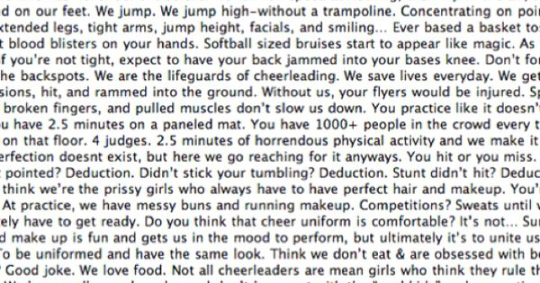 cheerleading.