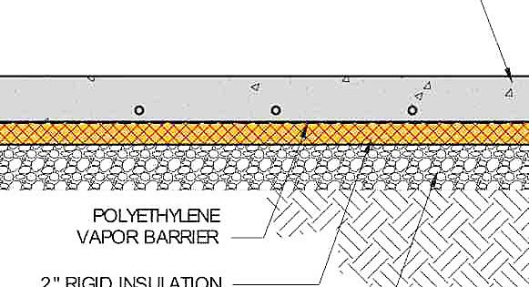 Detail Drawing Showing The Sandwich Of Layers Under A