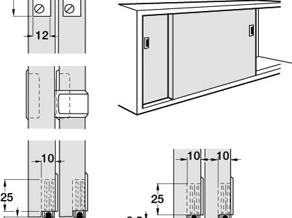 Euro sliding cabinet door system quality track system for Door u value calculator