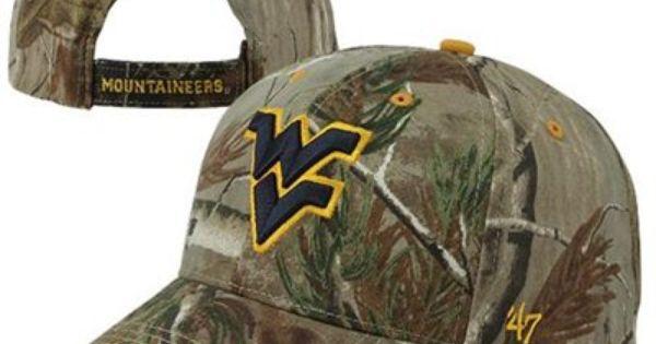 47 Brand West Virginia Mountaineers Frost Adjustable Hat Realtree Camo Realtree Camo West Virginia West Virginia Mountaineer