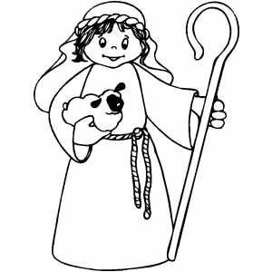 Shepherd Boy With Staff Printable Bible Coloring Pages Free To