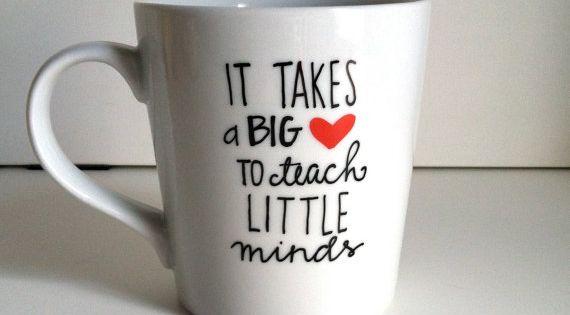 It Takes a Big Heart Ceramic Coffee Mug Teacher Gift