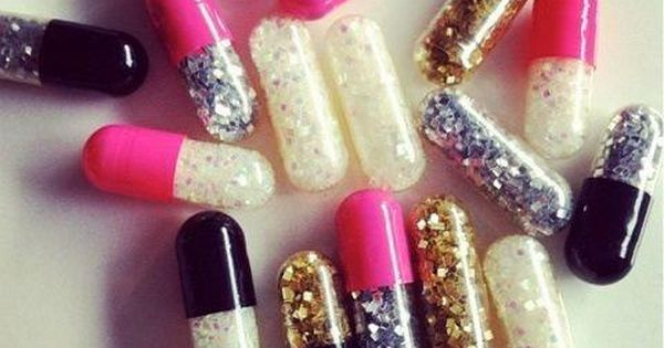 Glitter emergency pills. Bad day? Open a pill, throw glitter around. I