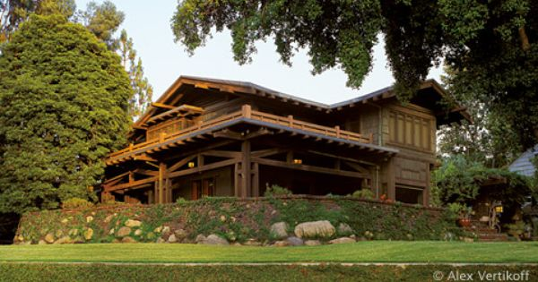 The Gamble House In Pasadena California Is An