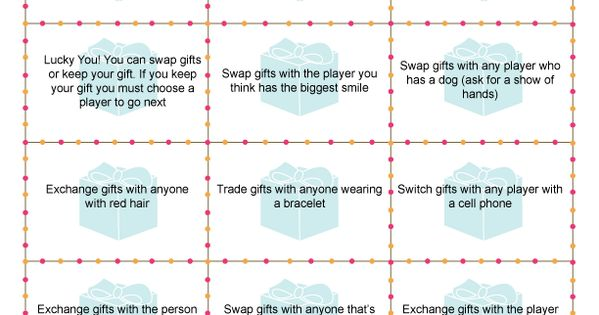 Gift Exchange Game would be so fun at a Christmas party!