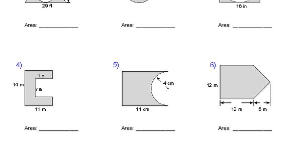 Compound Area Worksheet Gambarin Us Post Date 10 Nov 2018 78 Source Http Www Worksheeto Geometry Worksheets Shapes Worksheets Area Worksheets