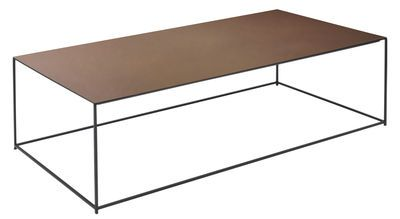 Coffee Table Slim Irony By Zeus Brown Black Metal Made In