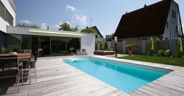 terrasse mit pool   pool and garten   pinterest   garten and