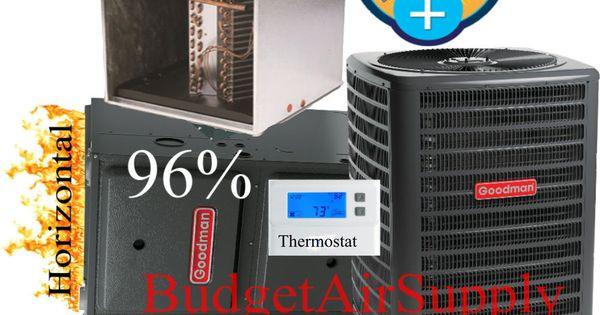 3 Ton Goodman Aspen 14 Seer 95 96 80k Btu Gas Furnace Horizontal Gmss960804cn Heating And Air Conditioning Home Improvement Thermostat