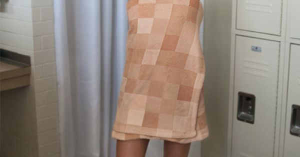 Censorship Towel Cleverly Pixelates Your Body! Whoa, this is clever. I'd feel