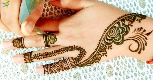 Modern And Youthful Henna Mehndi Design نقش حناء شبابي و عصري Mehndi Designs Simple Mehndi Designs Mehndi Simple