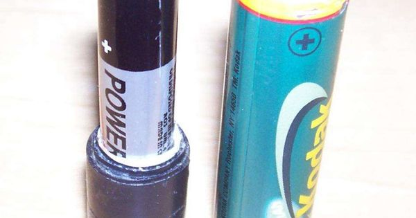 Make A Aaa Battery Work As A Aa Battery Aaa Batteries Aa Batteries Electrical Tape