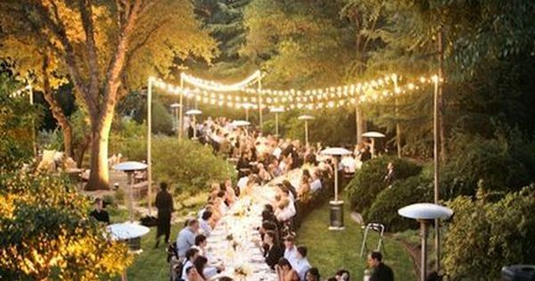 Garden party, wedding party, outdoor party.