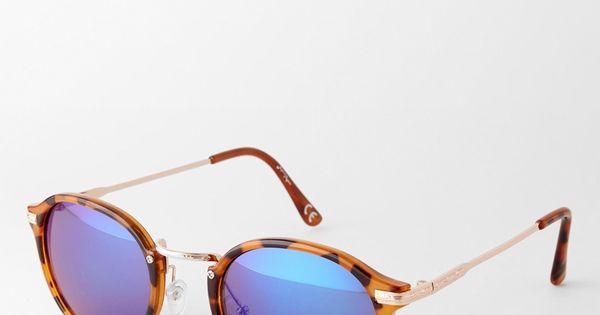 Jeepers peepers casper lunettes de soleil rondes for Lunettes verre miroir