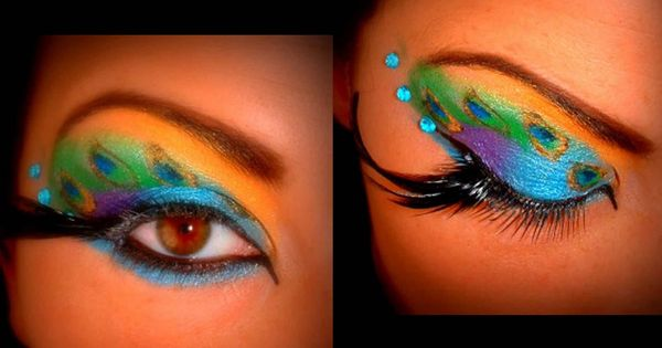 By Dondee Nations. peacock!!! I love the looks on Bloom Beauty Trends