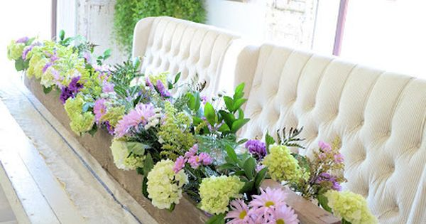 Flower box center piece