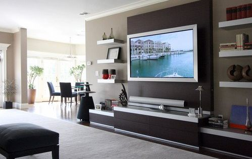 Living room decorating ideas wall mount tv living room for Wall mounted tv designs living room