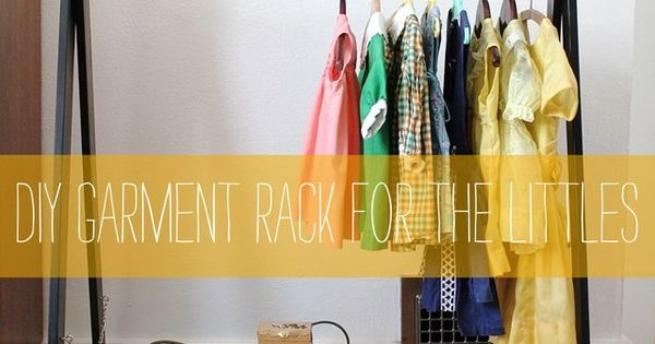 DIY children's garment rack from the lovely Smile and Wave. via: smileandwave.type...