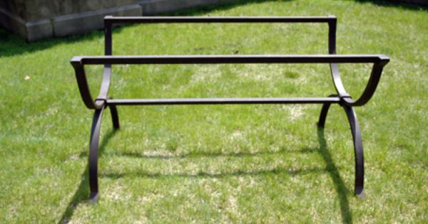 Wrought iron trestle table base old fashioned cast iron for Wrought iron table legs bases