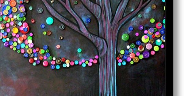 button tree craft.. cute!