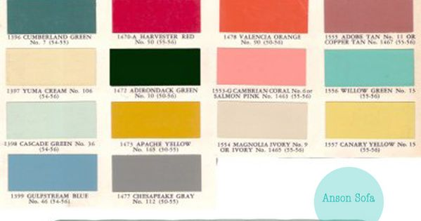 1950s color palette - Anson Sofa Repinned by Secret Design Studio, Melbourne.
