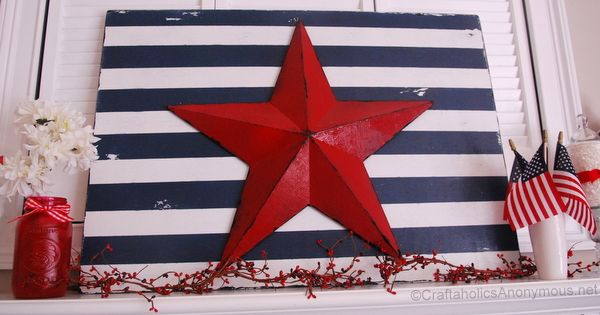 fourth of july craft. i want to make one of these using