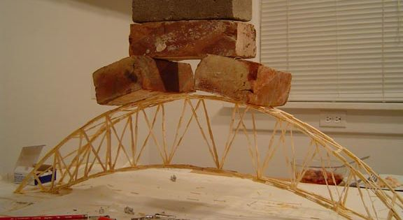 strongest toothpick bridge after adding some cross bracing on the top the span can finally. Black Bedroom Furniture Sets. Home Design Ideas