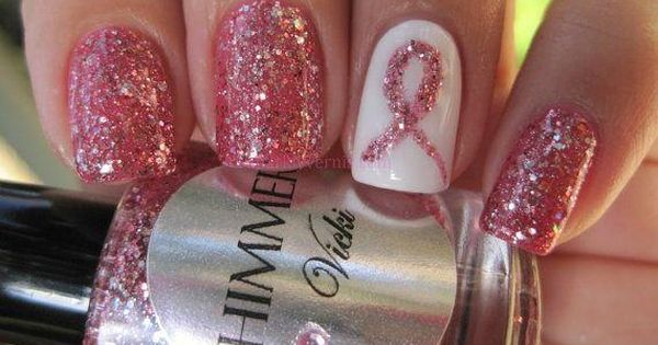 Octobers Nails - Shimmer Nail Polish - Vicki (Breast Cancer Awareness and
