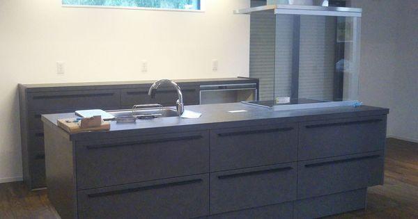 キッチン リシェルsi セラミック ウォルナットの床 グレーズグレー