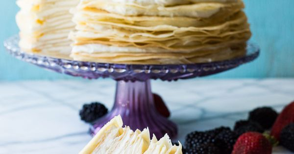 Lemon Cream Crepe Cake | Recipe | Crepe Cake, Crepes and Mascarpone