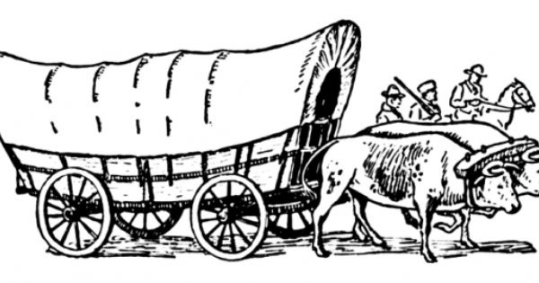 Free Printable Western Coloring Pages And Sheets For Kids And Adults Covered Wagon Oregon Trail Covered Wagon Oregon Trail