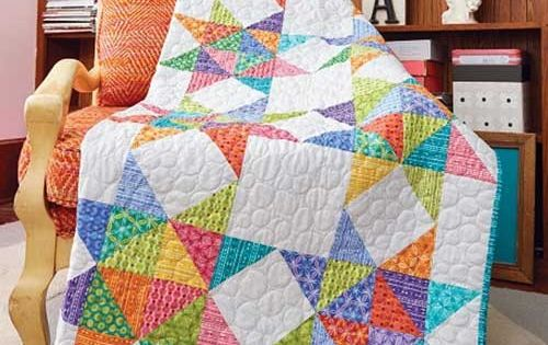 Brava Quilt Kit Half Square Triangles Scrap And Star Quilts
