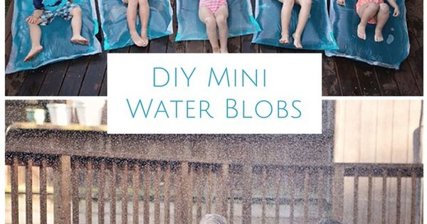Who needs a pool party when you can have a water blog party. Make mini water blobs. Easier to make, fills up faster and the best part is every kid gets to take one home!
