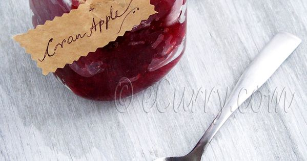 spiced cranberry apple jam, - this is good but a little sweeter than ...