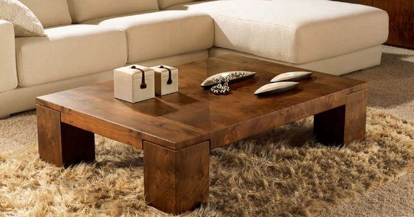 Wooden coffee tables add style and character to a room ...
