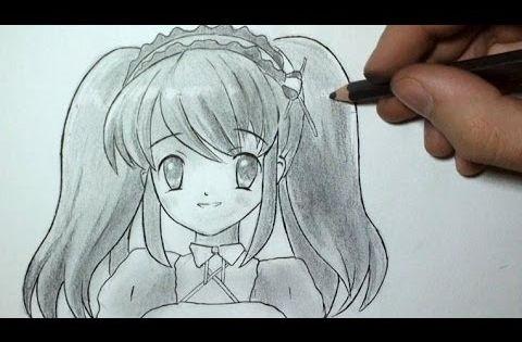 Comment dessiner un visage manga fille tutoriel 3 - Comment dessiner une tresse ...